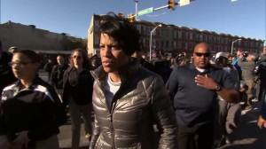 Baltimore mayor welcomes additional support to quell violence