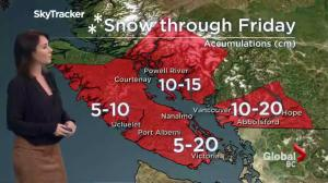 BC Evening Weather Forecast: Dec 8