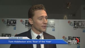 Hiddleston named 'Rear of the Year'