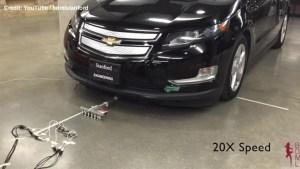 Microrobots pull 1,800-kilogram car