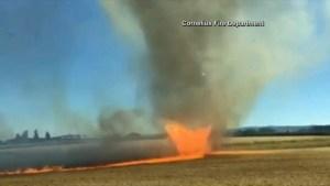 Firenado in Oregon caught on camera