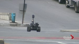 Downtown suspicious package
