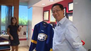 Sophi talks to UBC President Santa Ono