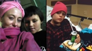 Children rescued after plow traps them inside snow bank