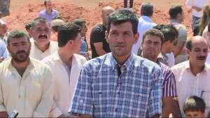 Father of drowned boys buries family at Kobani funeral