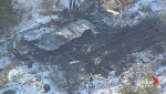 Bird's eye view of house explosion at Sandy Lake