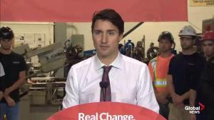 Trudeau clarifies response to Conservative's fiscal surplus