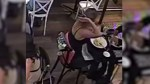 Video appears to show restaurant patron plucking hair from head, swirling it into dish