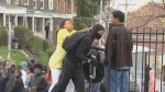 Baltimore mother disciplines rioting son