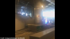 Video shows blast damage to Istanbul's airport after two bombs detonated inside