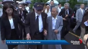 Second World War vet returns memento to fallen Japanese soldier's family