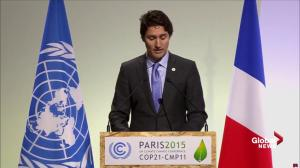 Prime Minister Trudeau outlines the five major principles Canada will follow to address climate change