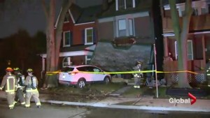 Car crashes into west-end Toronto home after medical episode