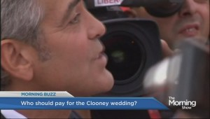George Clooney won't be paying for his own wedding