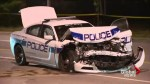 Peel police officer injured after cruiser collides with pickup truck in Brampton