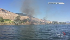 Boater helps put out fire in Kamloops