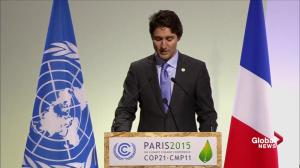Justin Trudeau tells world leaders at Paris climate change conference: Canada is back
