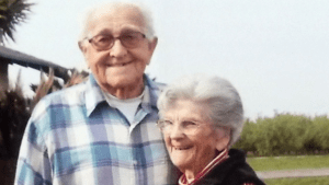 Elderly couple dies holding hands in their home