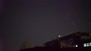 Footage of Geminid meteor shower illuminates night sky
