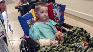 Lethbridge boy loses leg in lawnmower accident