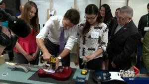 Prime Minister Trudeau visits Saskatoon
