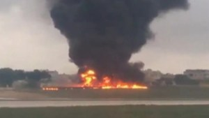 5 killed after plane crashes on takeoff at Malta airport