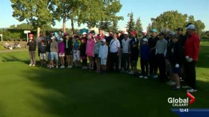 Aspiring Alberta golfers get a chance to hit some balls with the big boys