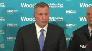 "New York Mayor de Blasio condemns ""assassination"" of N.Y. police officers"