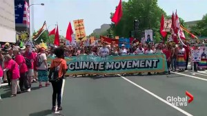 Tens of thousands attend in 'The Peoples Climate March' in Washington