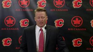 RAW: Glen Gulutzan speaks at Calgary Flames news conference