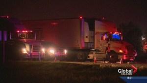 Teen killed by truck on QEII near Balzac