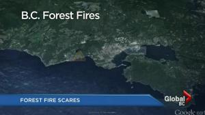 Risk of forest fires around the province