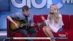 Madeline Merlo performs on Global News Morning