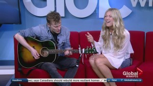 Madeline Merlo performs on Global News Morning