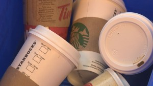 Re-thinking disposable coffee cups