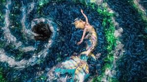 Canadian artist uses 10,000 plastic bottles for mermaid photo shoot to raise awareness on waste