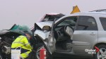 One man killed, woman injured in Highway 2 crash north of High River
