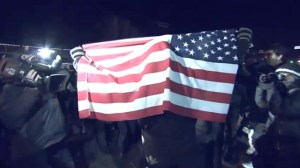 RAW: Protesters in Ferguson clash with police on second night of protests