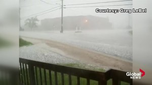 Extraordinary video of hail in Plaster Rock, N.B.