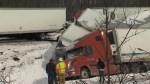Aftermath of fatal multi-vehicle highway crash in Pennsylvania