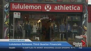 BIV: Lululemon releases third quarter financials