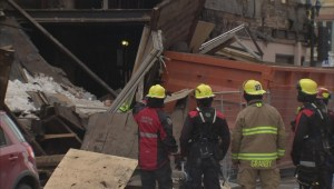 Abandoned building collapses in the East End