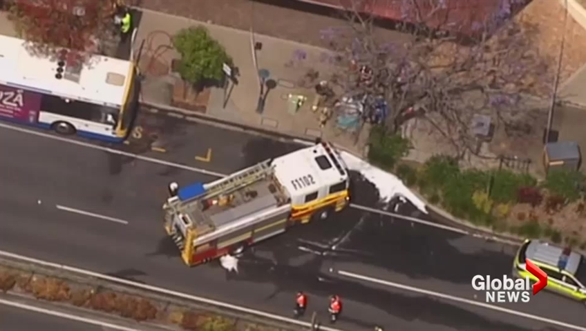 Driver dead after being set on fire on Brisbane bus