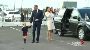 Royal visit comes to an end with a wave goodbye from George