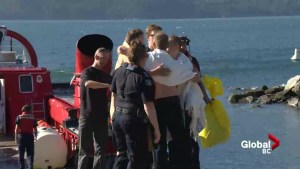 Three men rescued after boat capsizes in Howe Sound