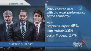 Canadian voters shift support for leader over economy: poll