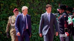 Trudeau treads carefully as Europe pulls away from U.S.