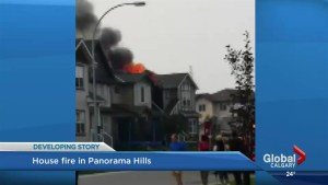 Fire destroys roof of home in Panorama Hills