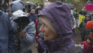 Burnaby Mountain protest: 84-year-old woman becomes 84th person to be arrested