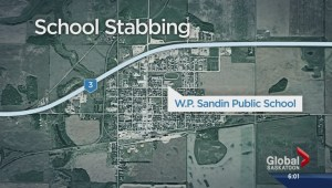 School stabbing sends one to hospital, one to police cells